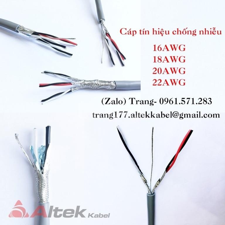 Cáp tín hiệu- cáp awg- cáp rs485 chất lượng cao