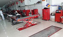 Bàn nâng điện âm nền sửa chữa xe máy, xe motor
