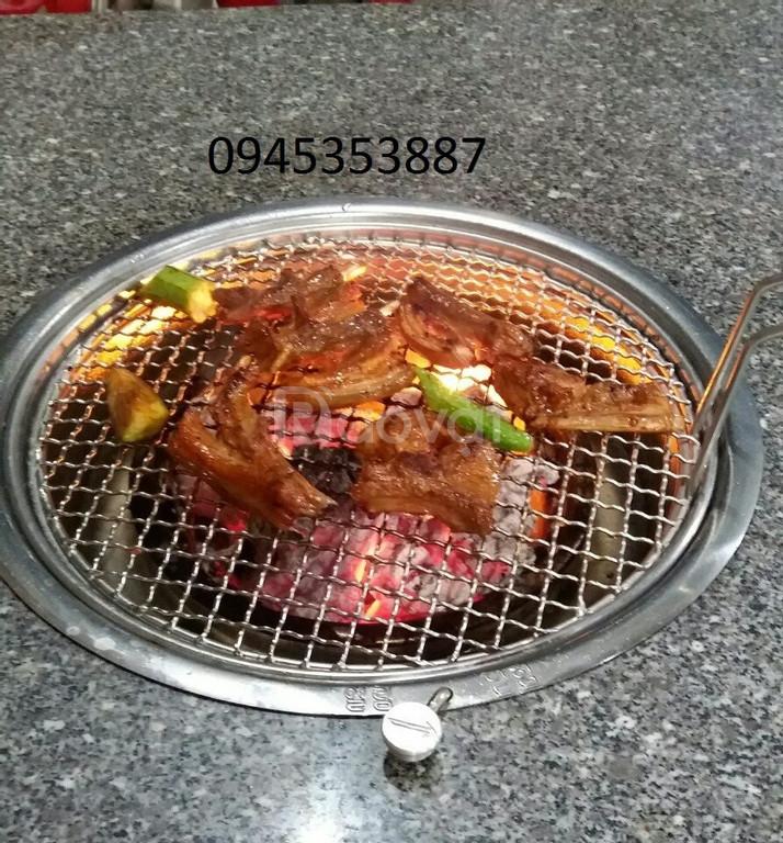Bếp nướng than hoa không khói Hàn Quốc hút dươngchuyên dùng quán nướng
