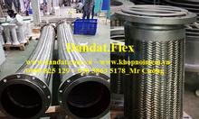Khớp nối mềm chống rung inox 304, ống mềm inox 304 nối bích