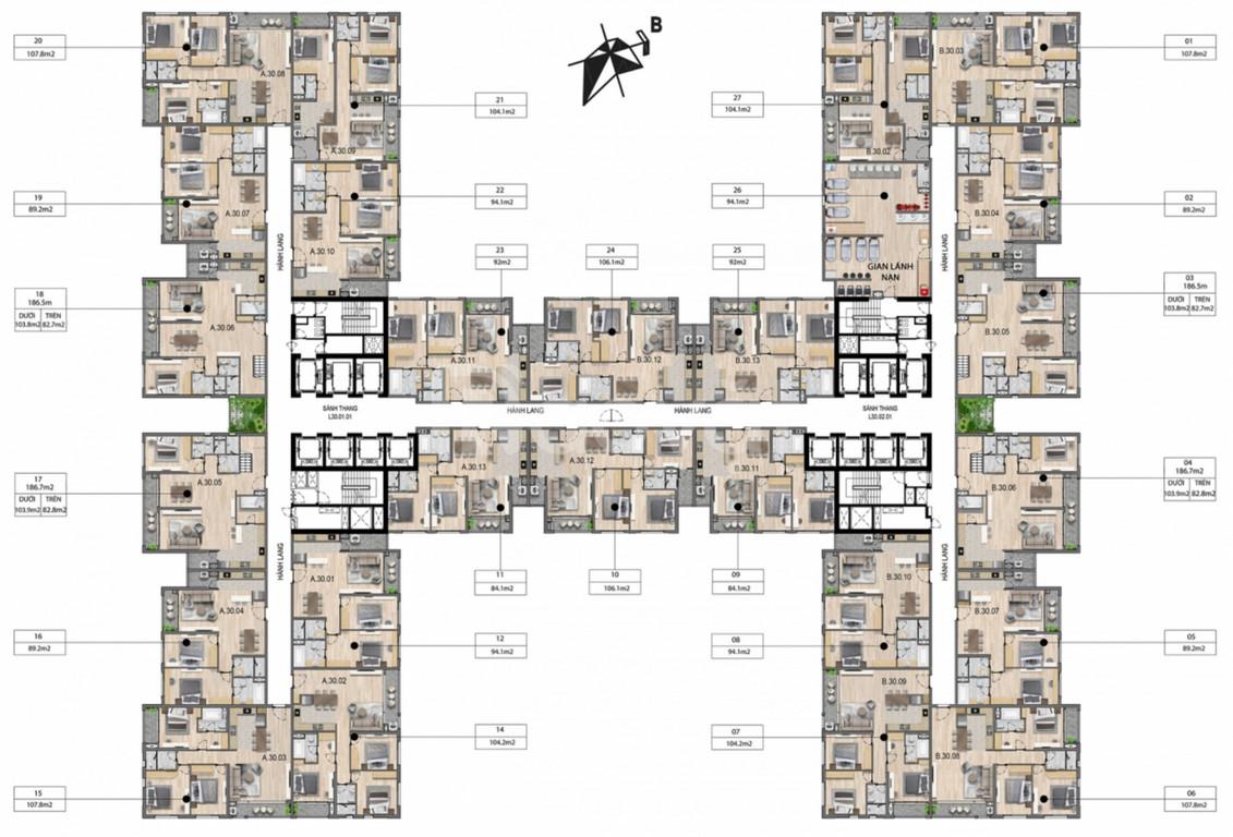 Chính chủ bán căn chung cư 3N diện tích 84m2