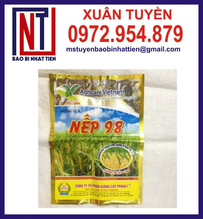 Bao bì 1kg đựng hạt giống lúa