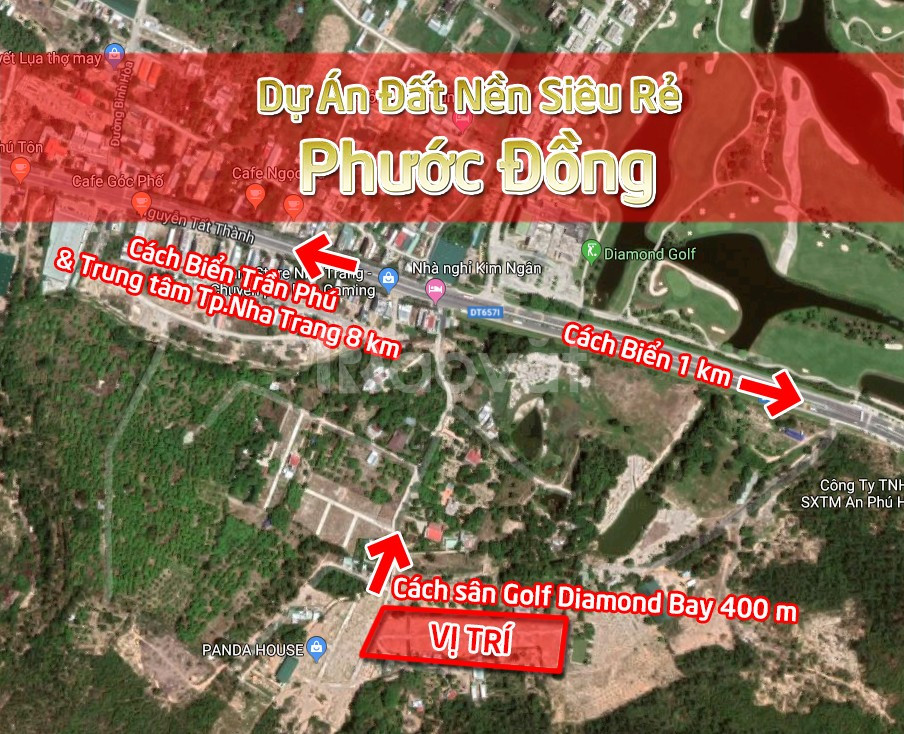 Đất nền sổ đỏ siêu rẻ Phước Đồng Nha Trang gần biển chỉ từ 700 triệu