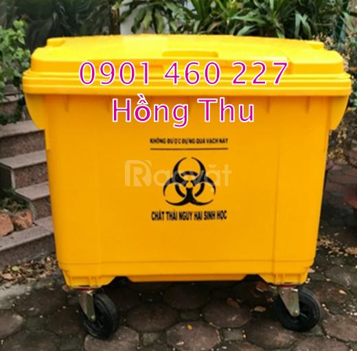 Thùng rác 660 lít nhựa composite, thùng rác 1000l giá bao nhiêu