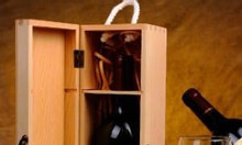 Hộp rượu gỗ thông đẹp, giá tốt