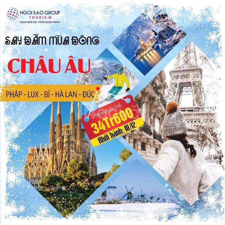 Tour châu Âu khởi hành từ Sài Gòn