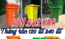 Chuyên sỉ lẻ thùng rác 120L 240L 660L nhập khẩu giá rẻ tại Trà Vinh