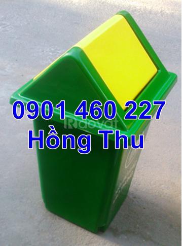 Thùng rác y tế dung tích 60 lít màu trắng thùng rác 60 lít màu xanh lá