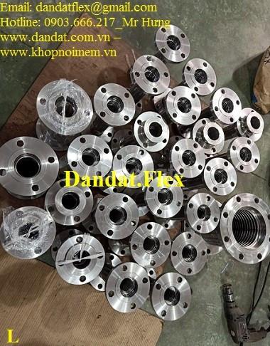 Ống mềm inox nối ren, khớp nối mềm chịu nhiệt dùng cho nhà máy thép