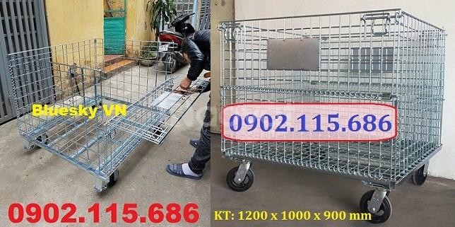Lồng trữ hàng container, lồng lưới thép, pallet lưới giá rẻ