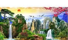 Tranh gạch 3d phong cảnh sơn thuy hữu tình