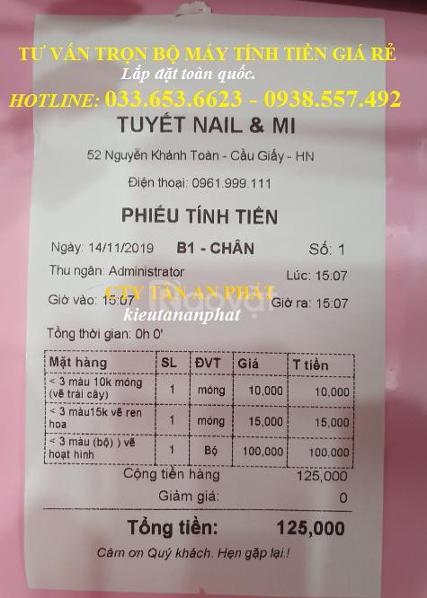 Trọn bộmáy tính tiền giá rẻ cho Tiệm Nail, Spatại TpHCM