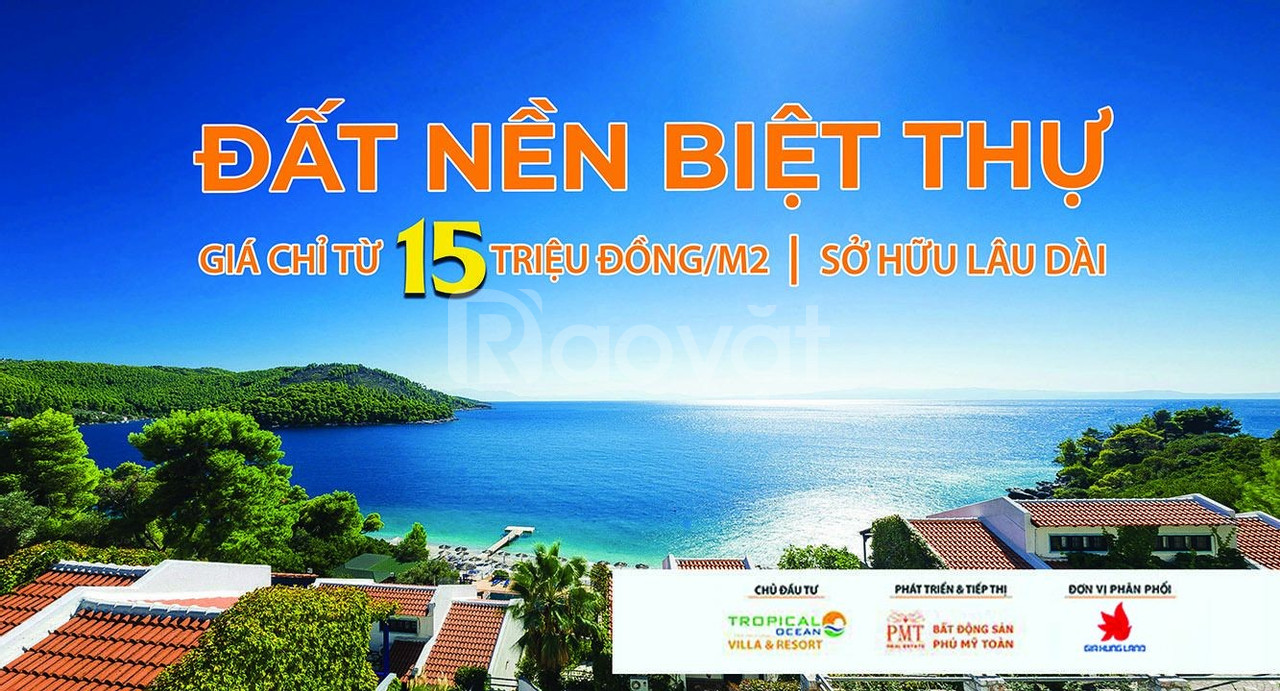 Tropical Ocean Villas & Resort mở bán 24/11/2019