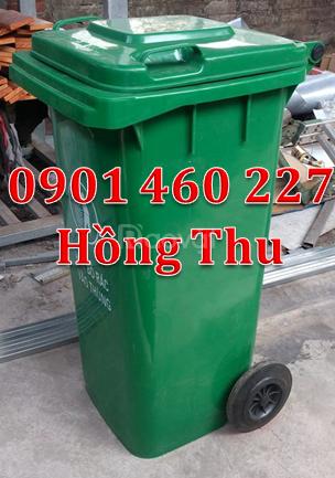 Thùng rác y tế màu đen 120 lít, thùng rác công cộng 240 lít màu trắng