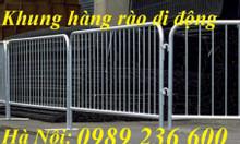 Hàng rào di động 1x2m chắc chắn bền đẹp giá rẻ tại Hà Nội.