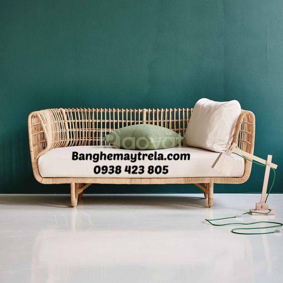 Băng ghế sofa mây tre tự nhiên