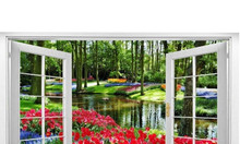 Tranh 3d vườn hoa - gạch tranh ốp tường