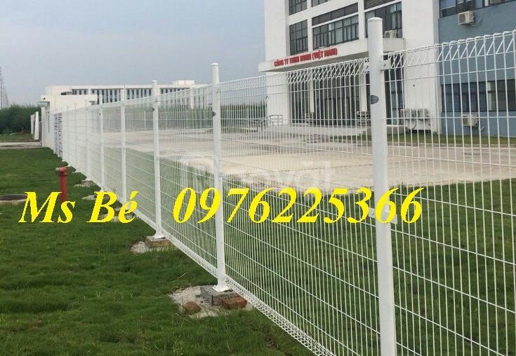 Hàng rào lưới thép mạ kẽm sơn tĩnh điện, giá tốt tại Hà Nội
