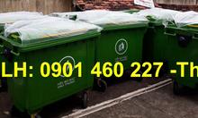 Xe thu gom rác 3 bánh đúc 1000 lít nhựa composite, thùng rác 1000 lít