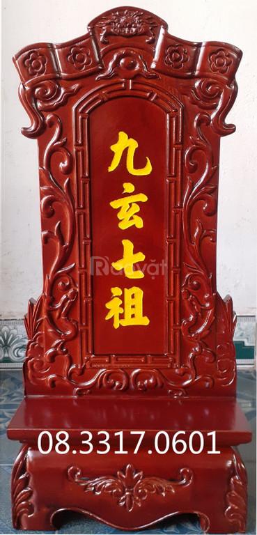 Bài vị thờ bằng gỗ, bài vị cửu huyền thất tổ bằng gỗ tự nhiên
