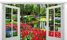 Tranh 3d vườn hoa tulip
