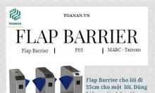 Flap barrier cho trường đại học, Flap barrier kết hợp mở bằng Barcode