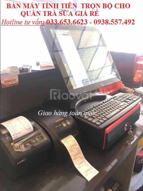 Bán máy tính tiền cho quán trà sữa tại Bình Dương
