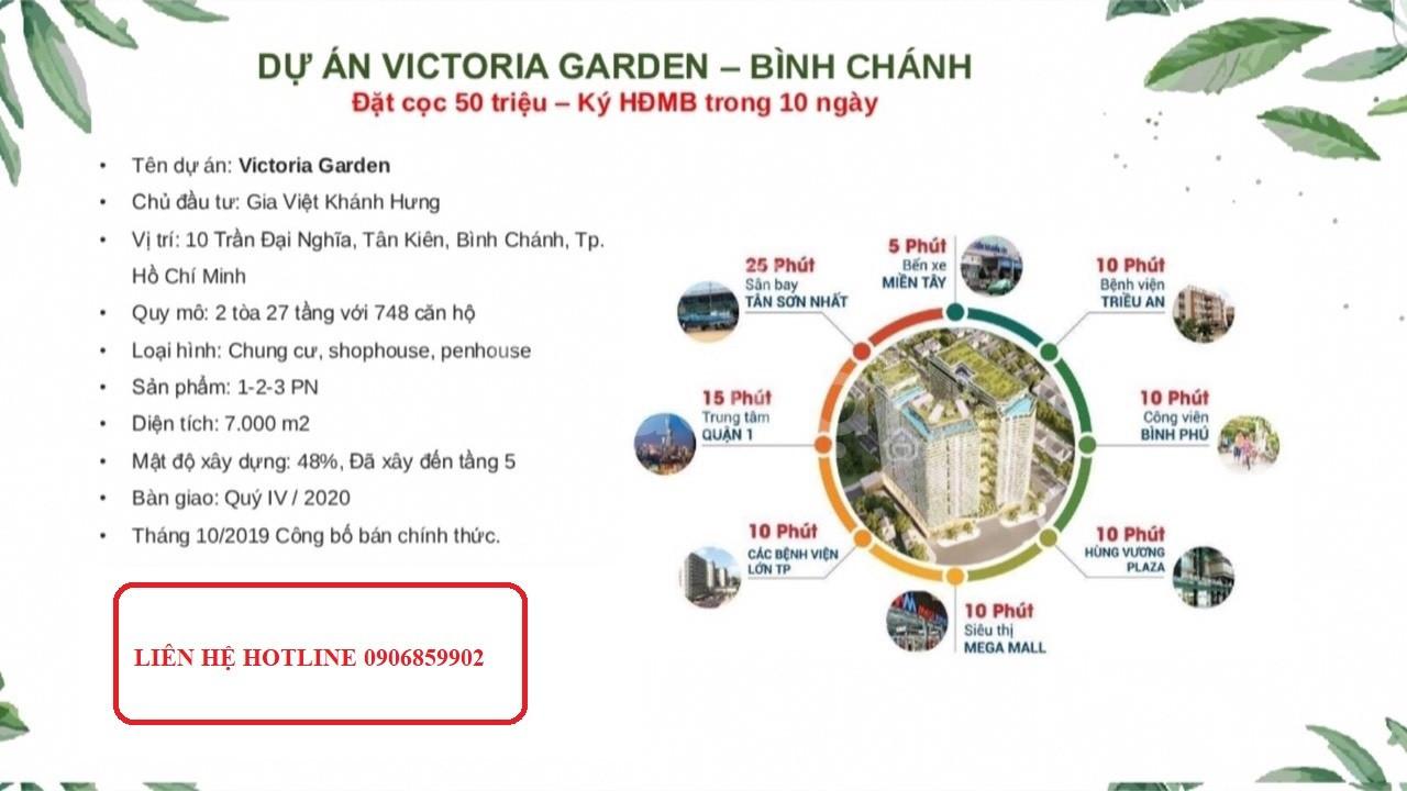 Mở bán đợt 1, lô B, căn hộ VIctoria Garden, ngay mặt tiền đường