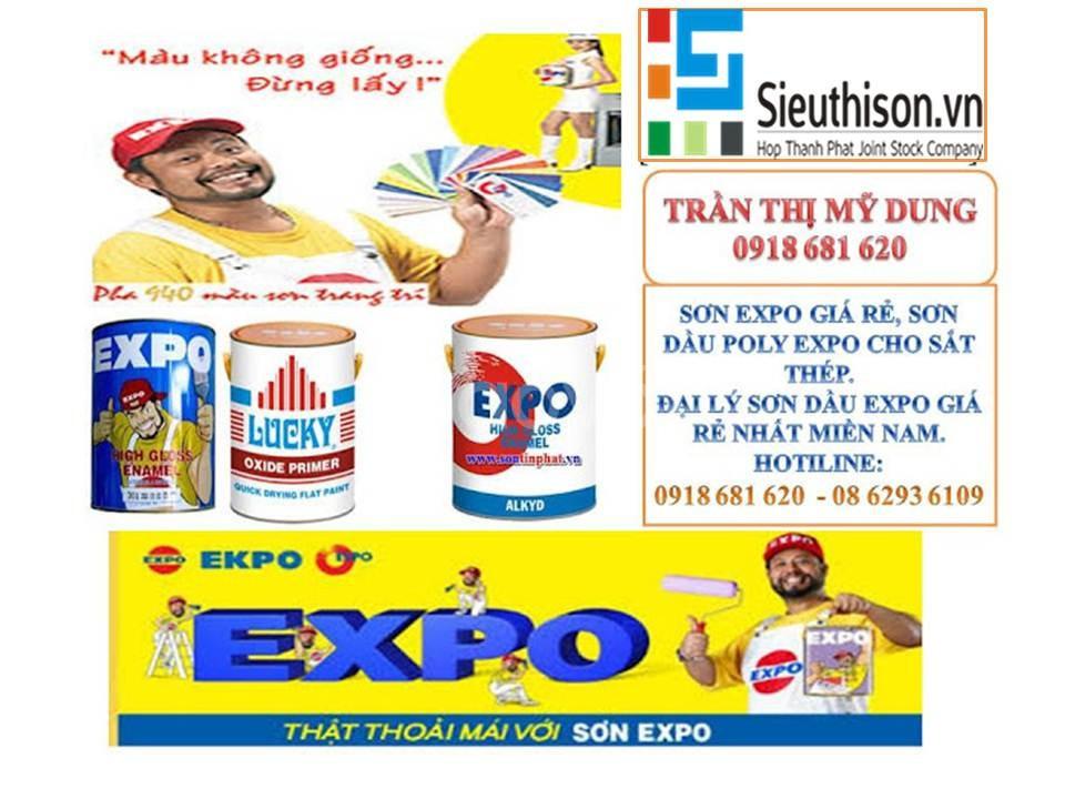 Cửa hàng cung cấp sơn nước ngoại thất Expo Rainkote thùng 18lit giá rẻ
