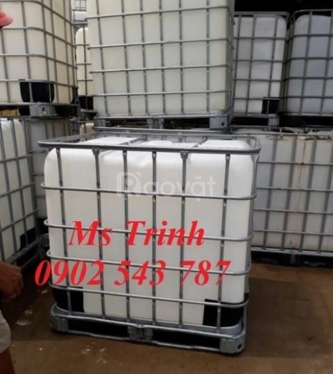 Bồn đựng hóa chất; tank nhựa 1000l đựng hóa chất giá rẻ