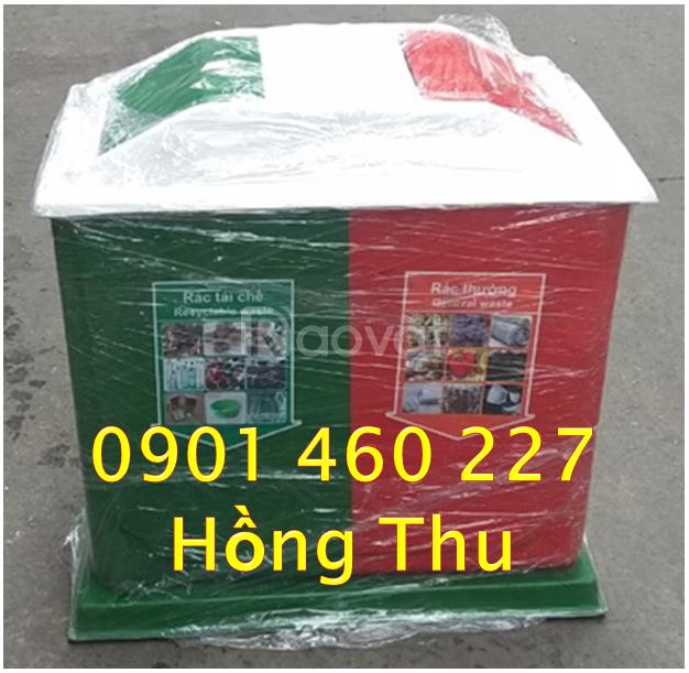SX thùng rác 3 ngăn, thùng rác 2 ngăn phân loại rác