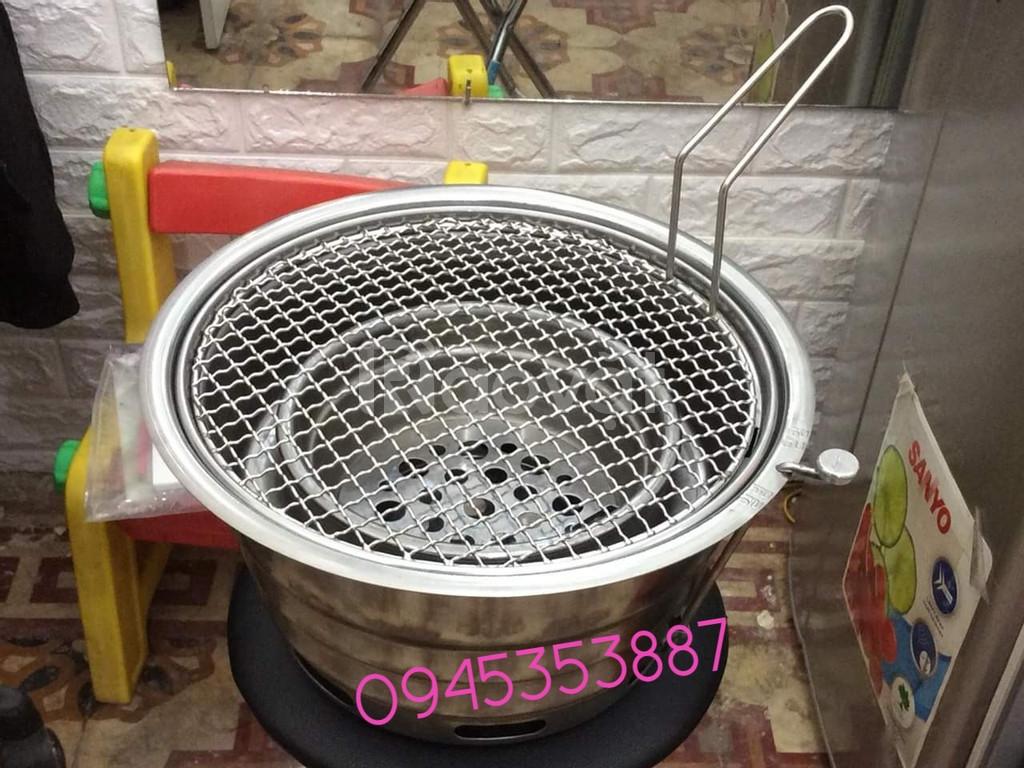 Bếp nướng than hoa không khói bếp nướng âm bàn vỉ inox 304