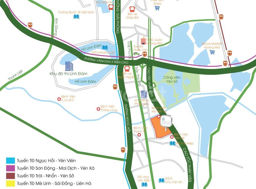 Mở bán CT11 Gardenia - Hồng Hà Eco City 65m2, 2PN, 1.55 tỷ