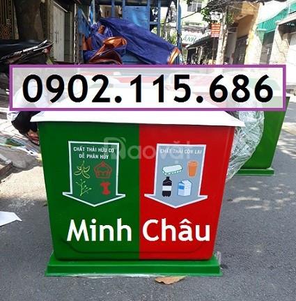 Thùng phân loại rác 3 ngăn, thùng rác 3 ngăn, thùng rác 3 màu (ảnh 4)