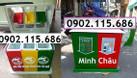 Thùng phân loại rác 3 ngăn, thùng rác 3 ngăn, thùng rác 3 màu (ảnh 7)