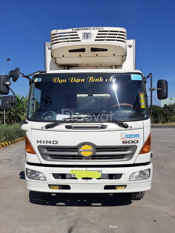 Xe tải Hino fl tải 14 tấn thùng đông lạnh 7m6 2014