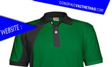 Áo đồng phục xanh lá cây vải thể thao