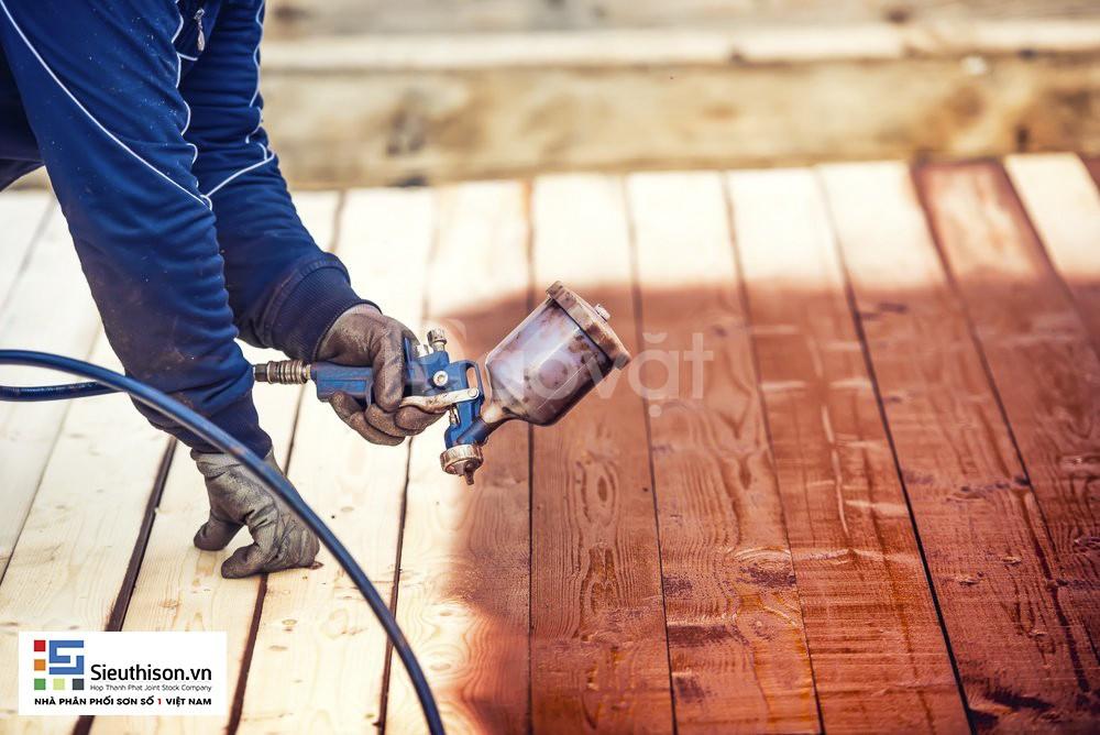 Cần tìm cửa hàng cung cấp sơn gỗ màu cánh gián thùng 18kg