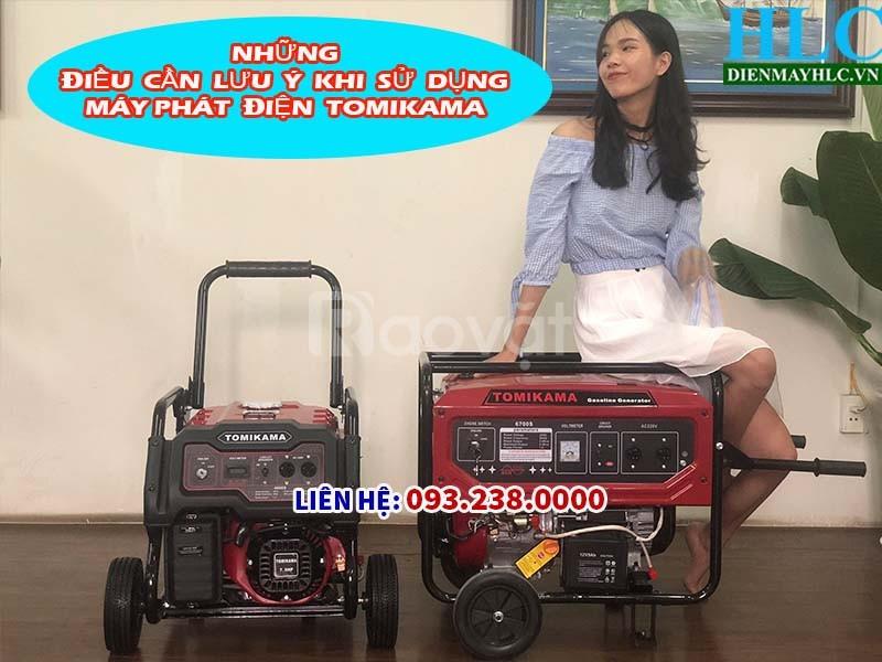 Máy phát điện chạy xăng, chạy dầu Tomikama Nhật Bản