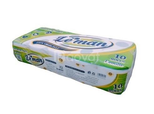 Giấy vệ sinh cuộn nhỏ 3 lớp - giấy vệ sinh lụa cao cấp Leman tại Đồng