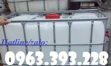 Tank nhựa IBC 1000L đã qua sử dụng, bồn nhựa đựng hóa chất