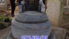 Mẫu mộ tròn bằng đá khối đẹp chất lượng cao giá rẻ  (ảnh 5)
