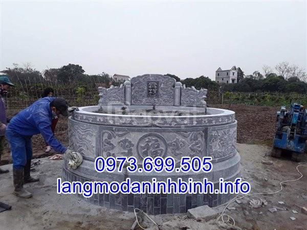 Mẫu mộ tròn bằng đá khối đẹp chất lượng cao giá rẻ  (ảnh 1)