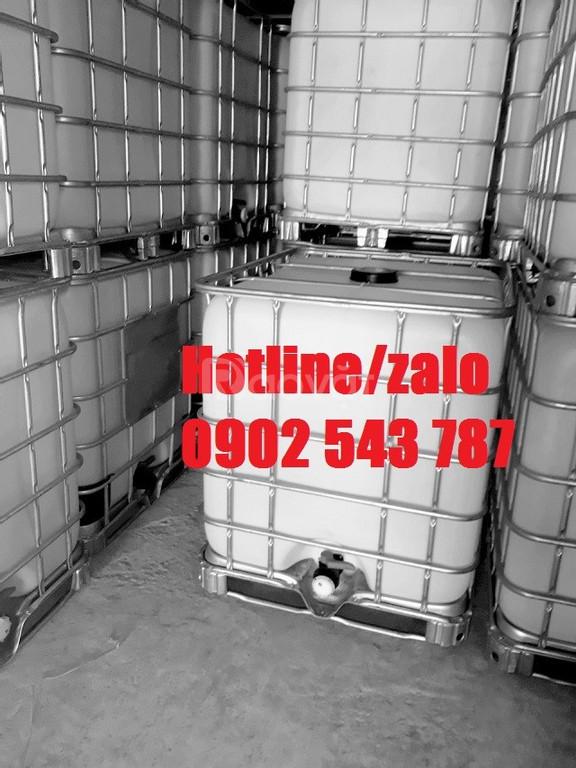 Tank nhựa ibc có khung sắt cũ 1000l, thùng nhựa 1000l vuông