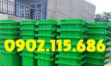Thùng rác công cộng 120 lít, thùng rác 120 lít nắp kín