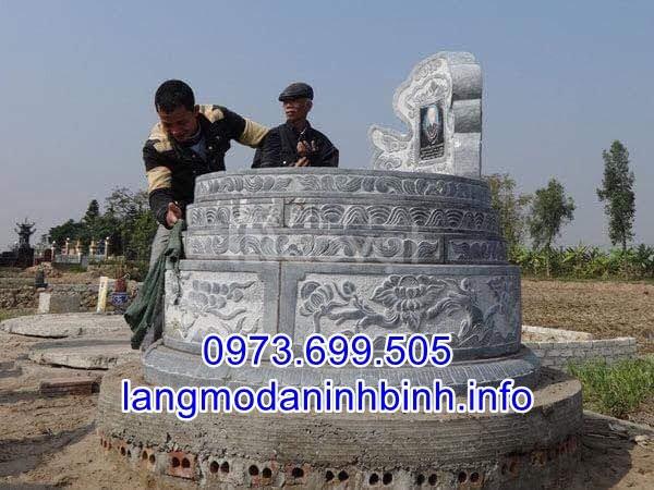 Mẫu mộ tròn bằng đá khối đẹp chất lượng cao giá rẻ  (ảnh 4)