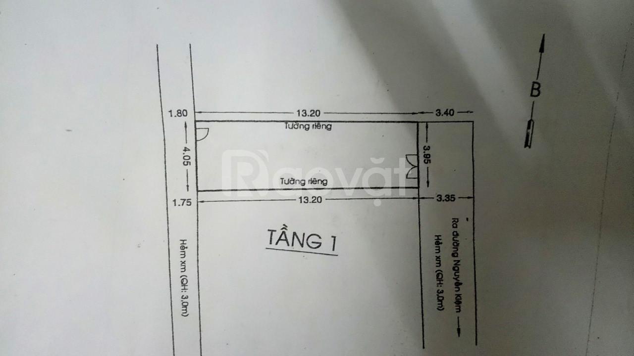 Bán nhà cấp 4 HXH Hẻm 440/ Nguyễn Kiệm 4x13.2=53m2