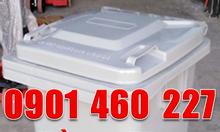 Thùng rác 120 lít y tế màu đen,thùng rác màu đen 240 lít nhựa HDPE