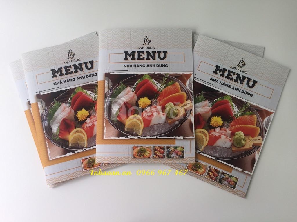 In quyển menu nhà hàng, địa chỉ thiết kế menu, in menu hình ảnh sắc né