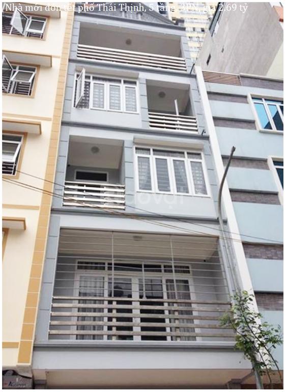 Nhà mới đón tết phố Thái Thịnh, 5 tầng, 3PN, giá 2.69 tỷ
